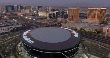 Allegiant Stadium view, Las Vegas strip