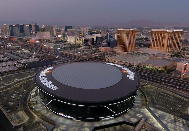 Allegiant Stadium view, Las Vegas strip