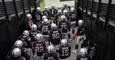 Raiders tunnel