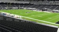 Allegiant Stadium seats, view