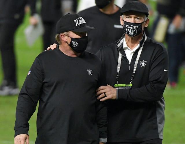 Jon Gruden, Mike Mayock, Raiders