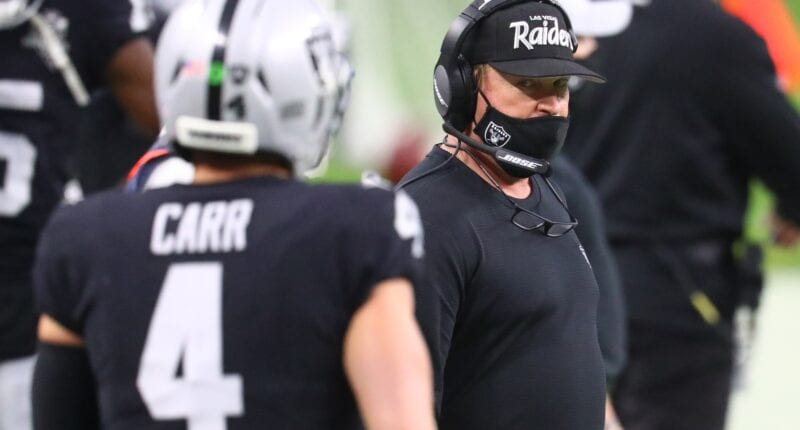 Jon Gruden, Derek Carr, Raiders
