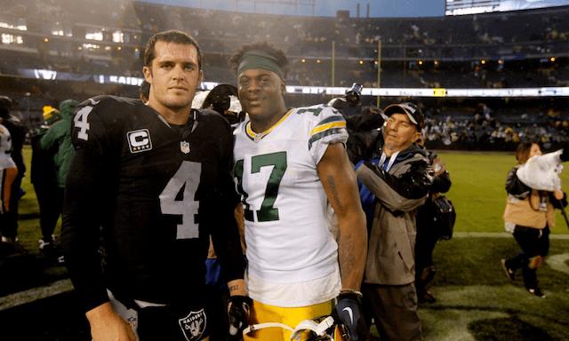 Derek Carr, Raiders, Davante Adams, Packers