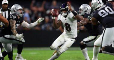 Lamar Jackson, Raiders, Ravens